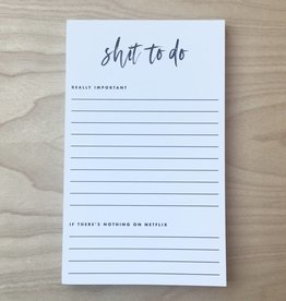 Black Lab Studio Notepad- Shit To Do