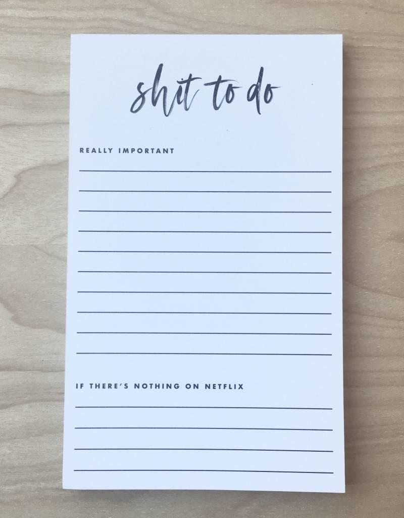 Black Lab Studio Notepad- Shit To Do