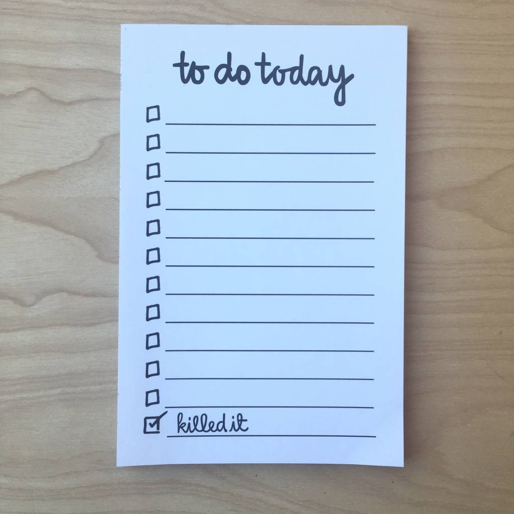 Notepad- Daily To Do List