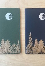 Runaway Press Journal - Moleskin, Moon and Trees