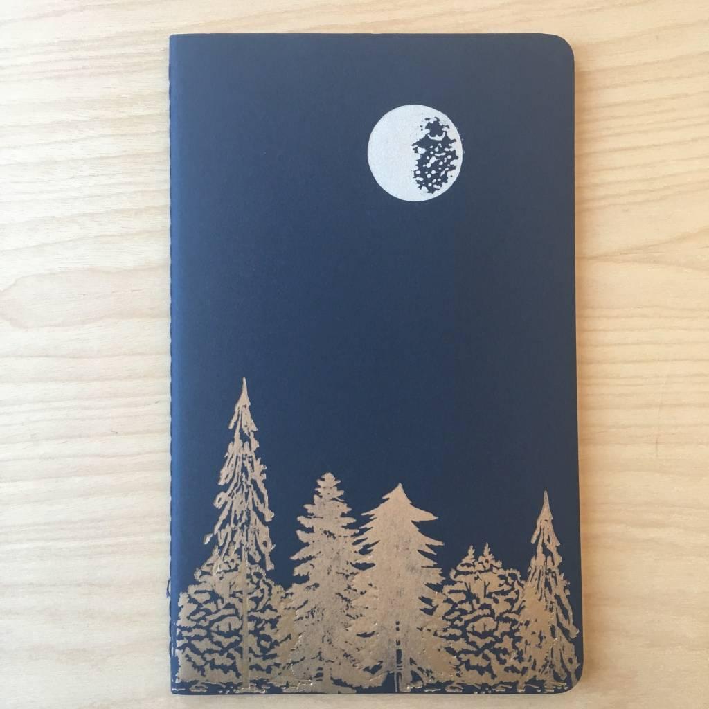 Runaway Press Journal - Moleskin, Moon and Trees