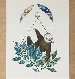 Marika Paz Illustrations Print- Sloth Spirit Animal