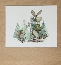 Print- Snowshoeing