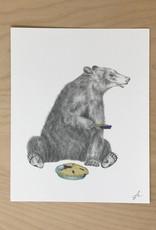 Lecanotrouge Print- Albert Finnegan Bear