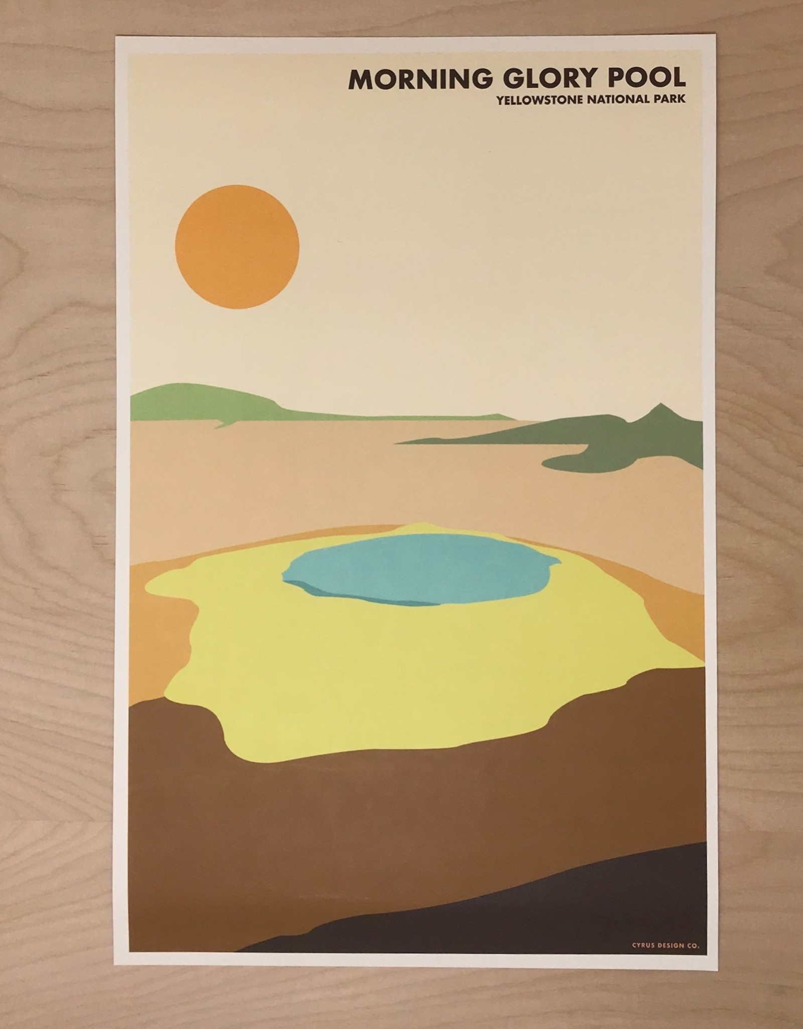 Cyrus Design Print- Morning Glory Pool