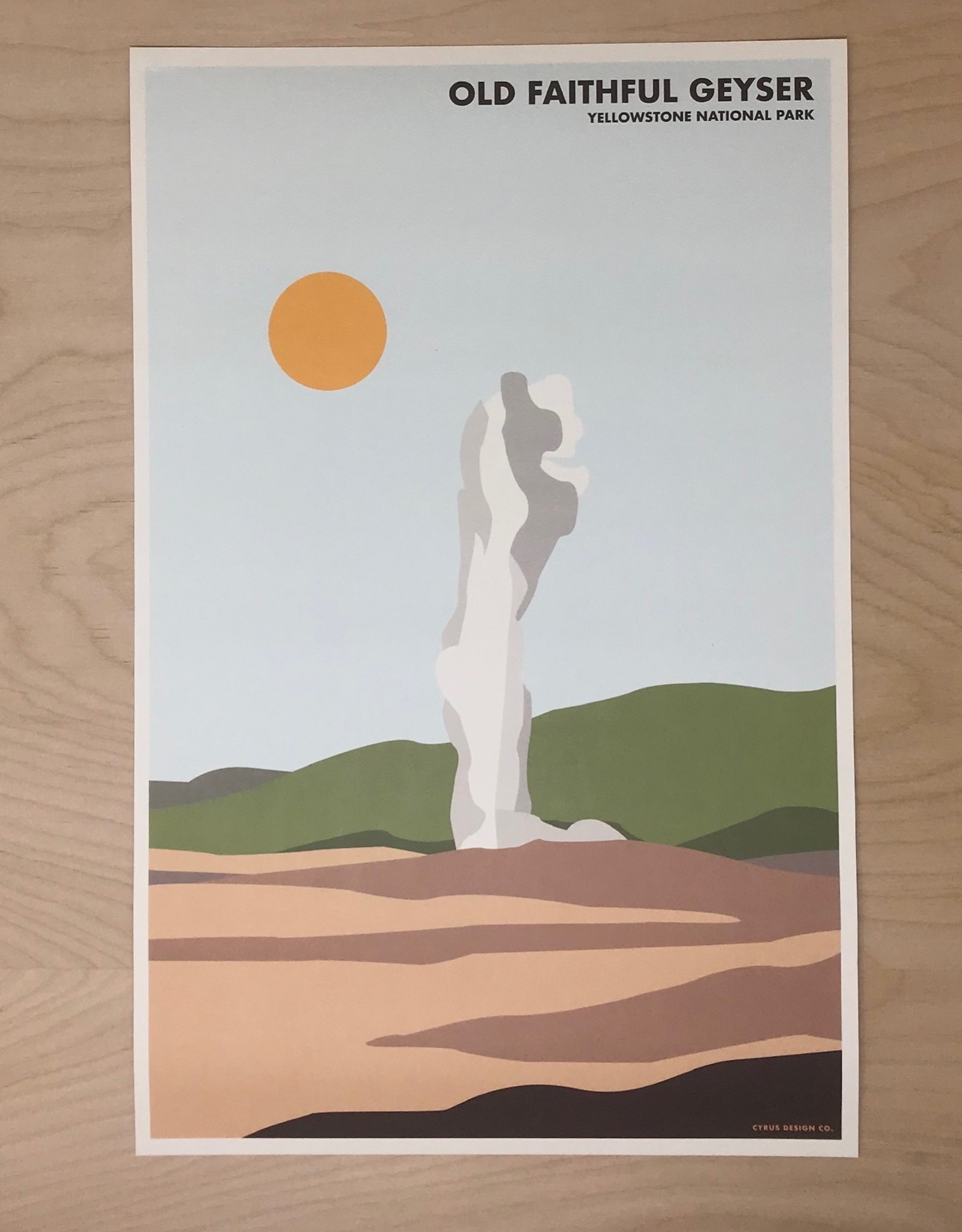 Cyrus Design Print- Old Faithful Geyser