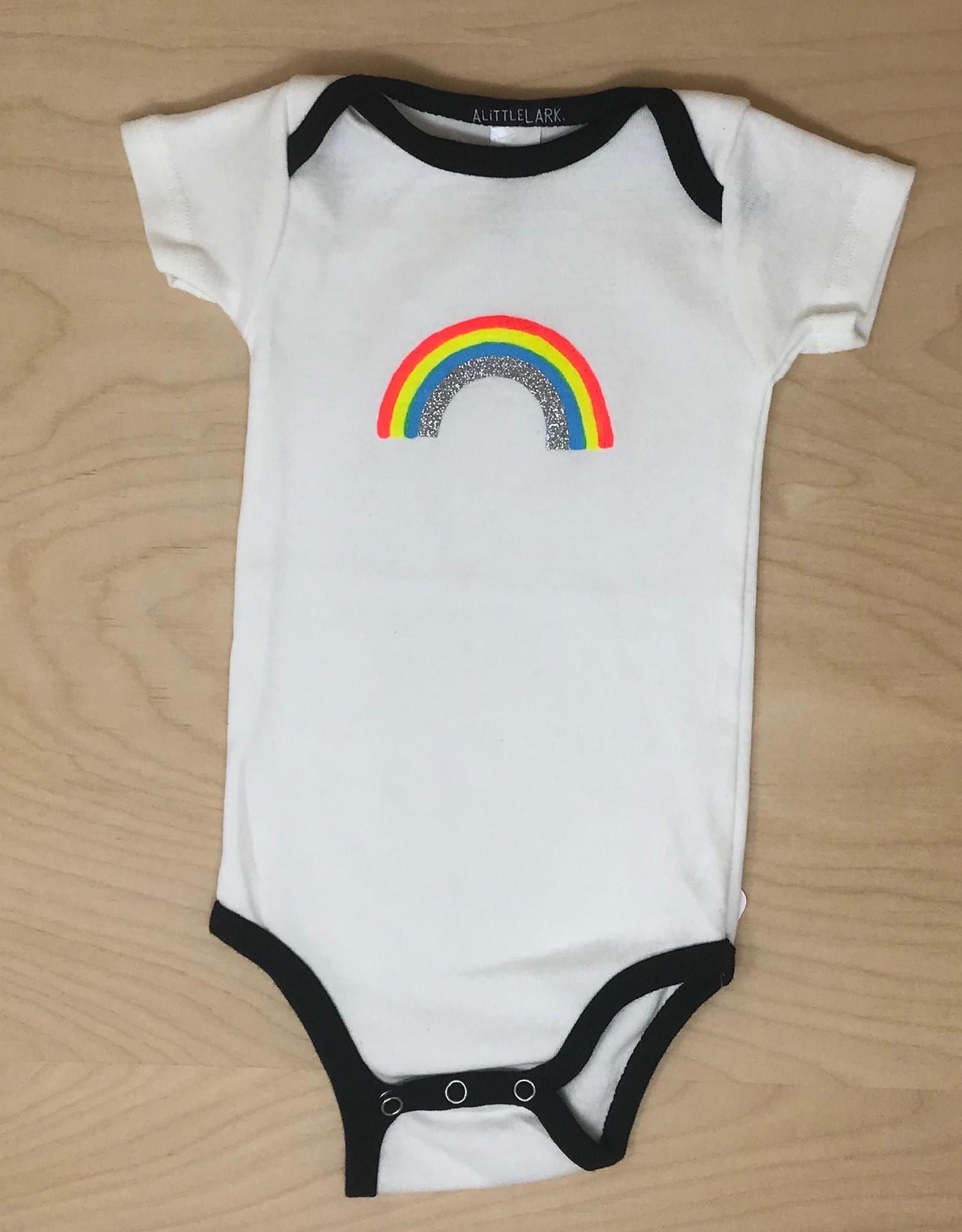 Little Lark Onesie- Glitter Rainbow