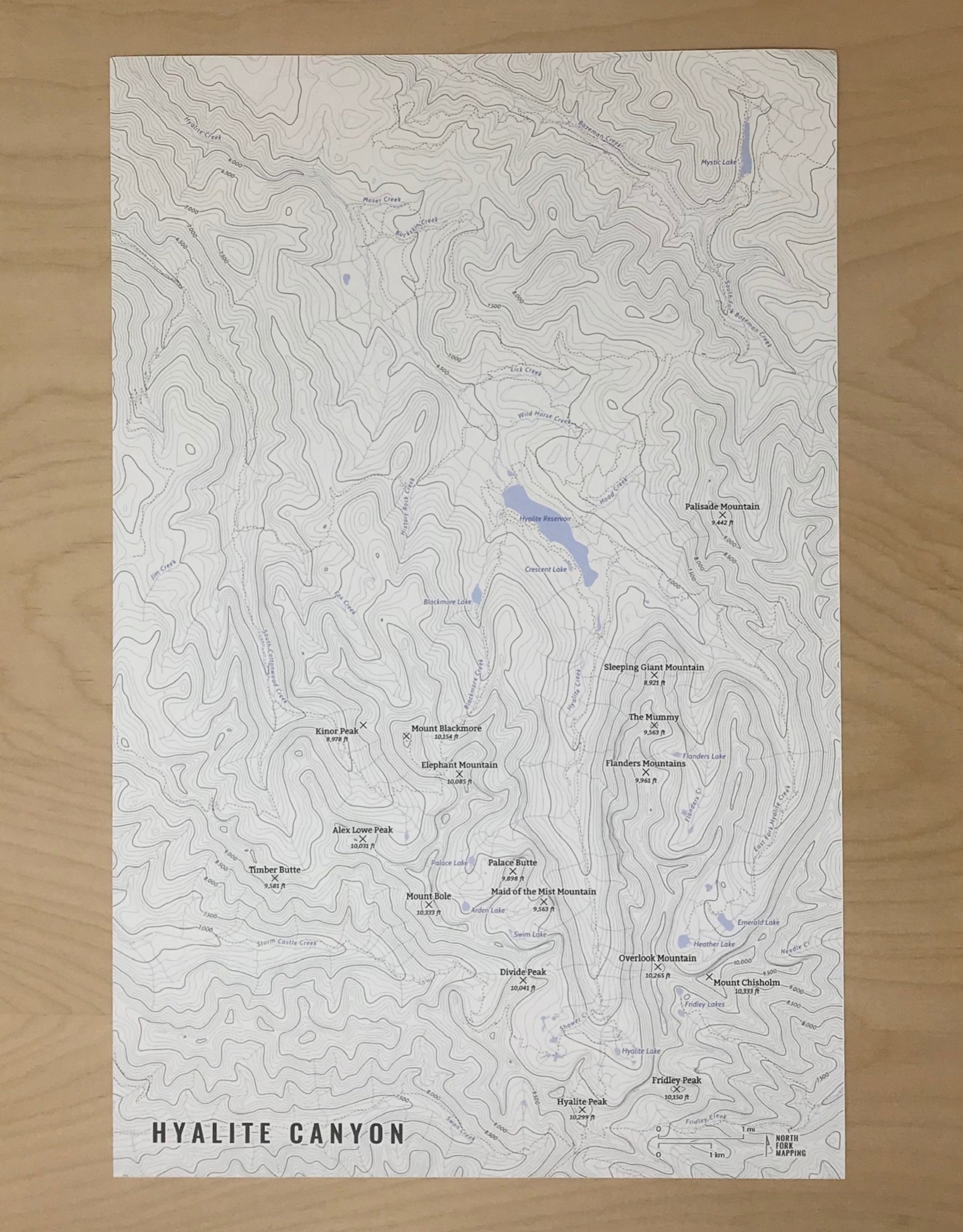 North Fork Mapping Map- Hyalite