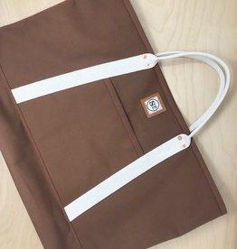 Shotgun Paul Canvas Tote Bag- Large, Brown