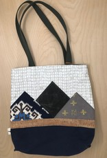 Sparrow Design Studio Tote- Mountains Are Home, Grey Dots