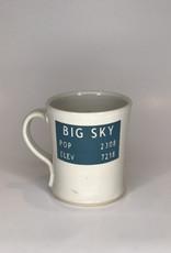 Red Bison Studios Mug- Big Sky White
