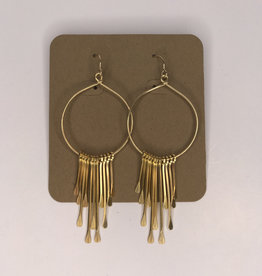 Amano Studios Earrings - Gold Fringe Dangle