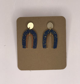 Amano Studios Earrings - Arches, Blue & Gold