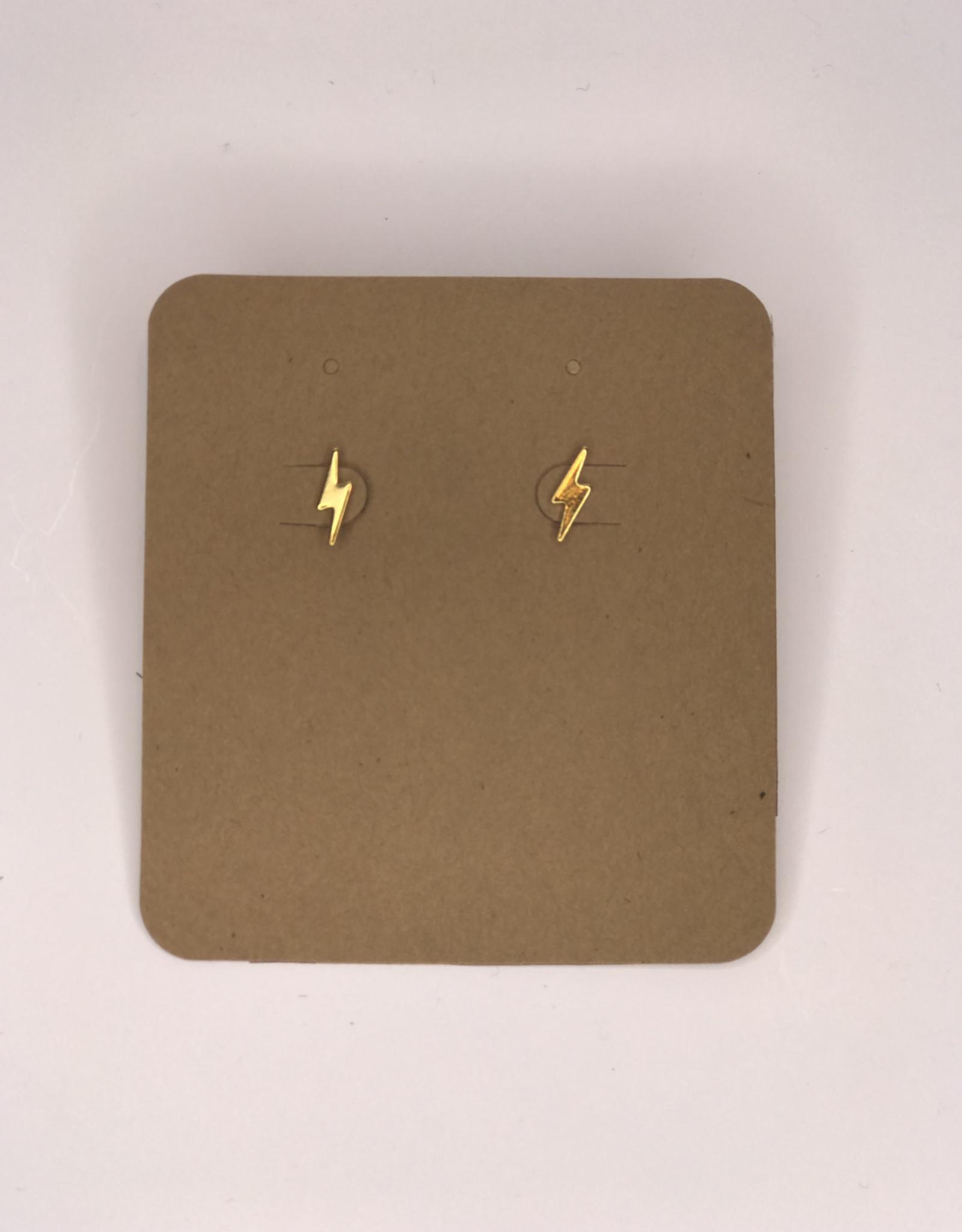 Amano Studios Earrings - Gold Lightning Bolt