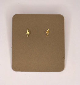 Amano Studios Earrings - Gold Lightning Bolt