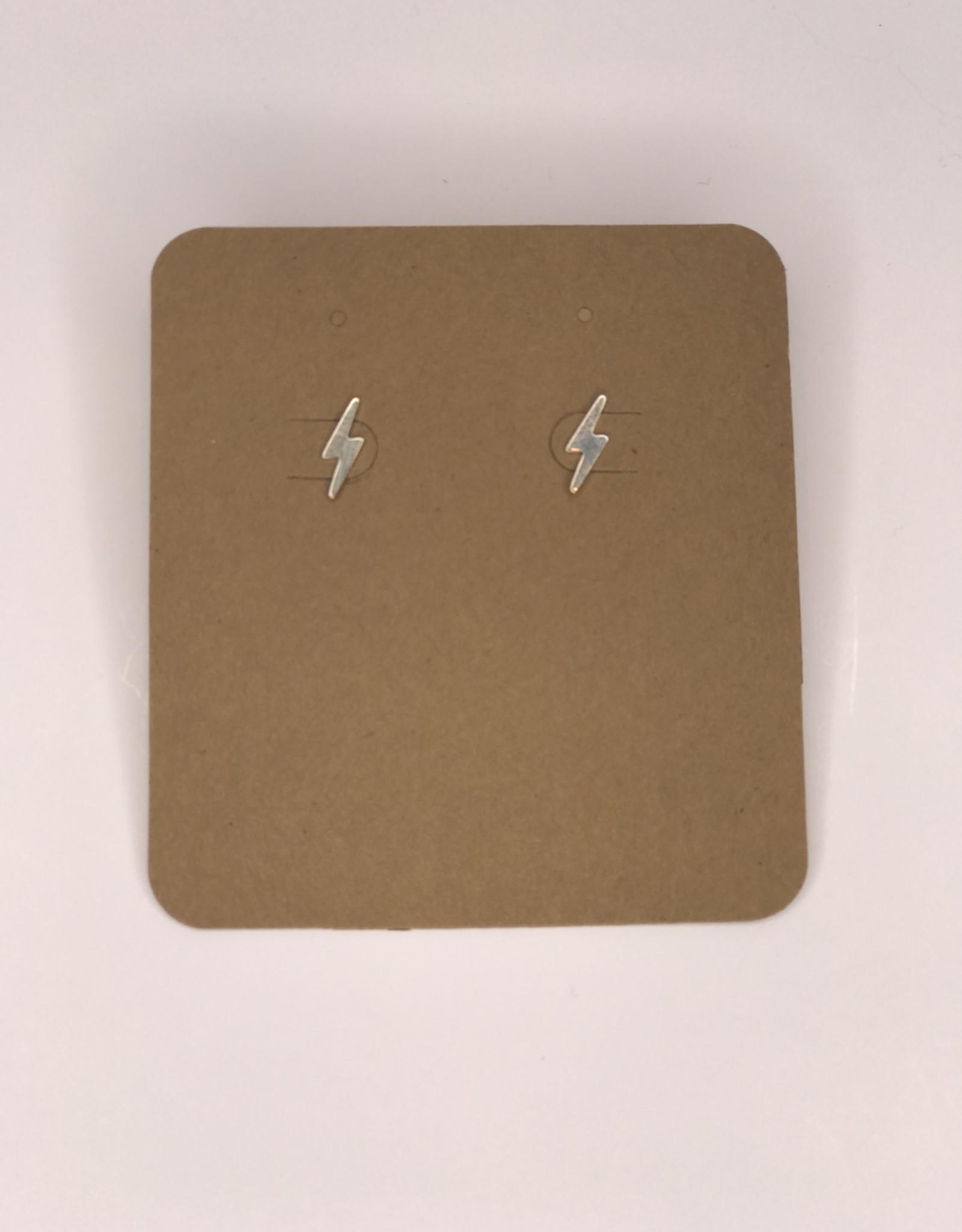 Amano Studios Earrings - Silver Lightning Bolt