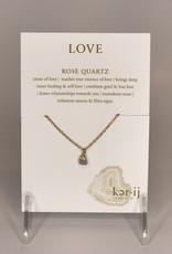 Ker-ij Jewelry Necklace- Love Stone Rose Quartz