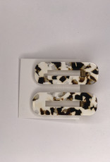 Nat and Noor Hair Clips- Coco Cream Tortoise Duo