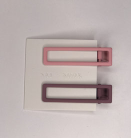 Nat and Noor Hair Clips- Pink & Mauve Lulu
