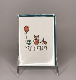 Ladybug Press Card- Yay Animals