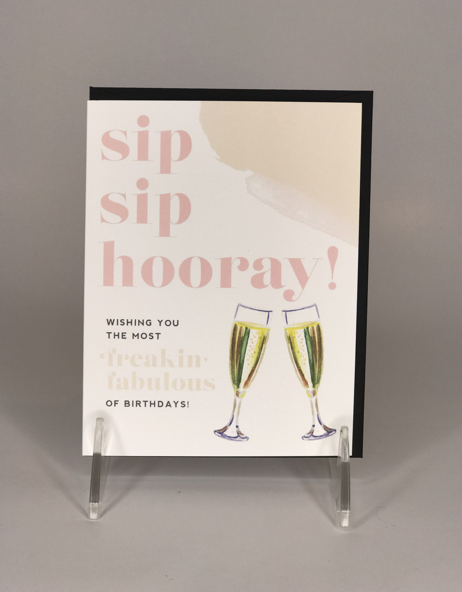 Kitty Meow Boutique Card- Sip Sip