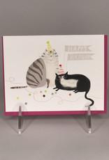 Card- Cat Birthday Grey & Tux