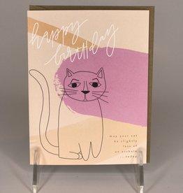 Black Lab Studio Card- Asshole Cat