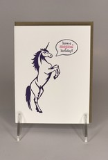 STEEL PETAL PRESS Card- Birthday Unicorn