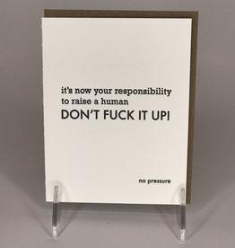 STEEL PETAL PRESS Card- No Pressure
