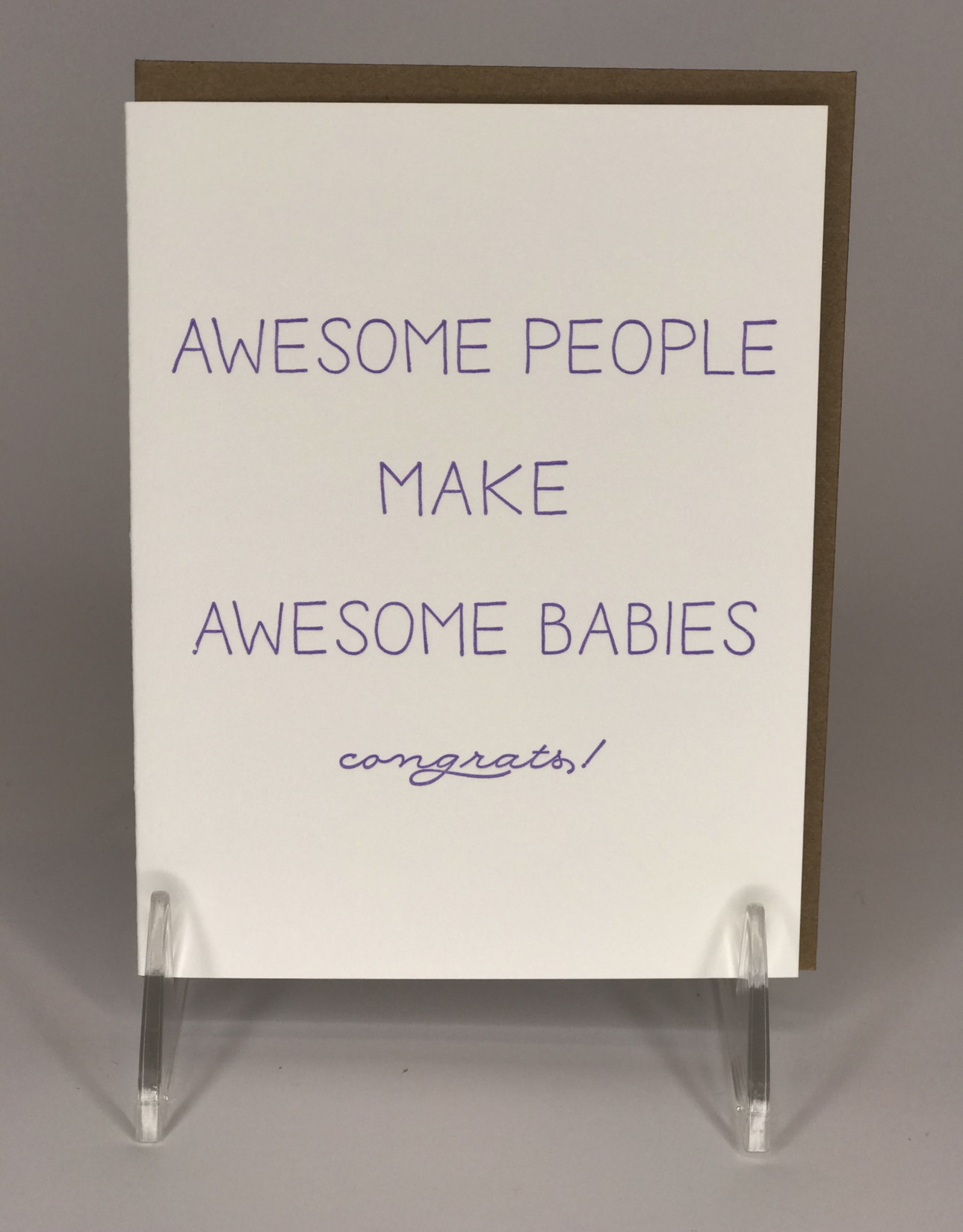 STEEL PETAL PRESS Card- Awesome Babies