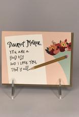 Black Lab Studio Card- Badass Mom