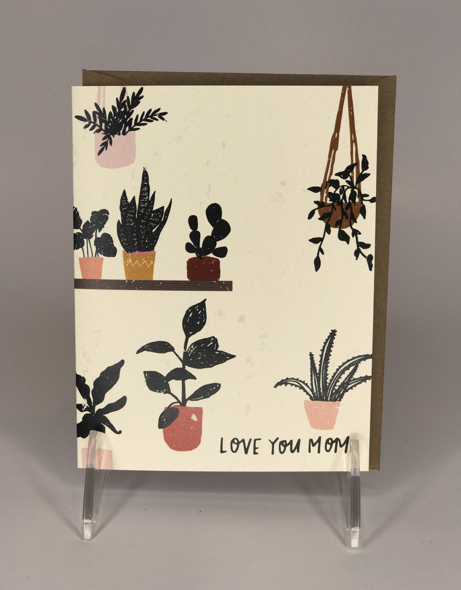 Black Lab Studio Card- Love You Mom Plants