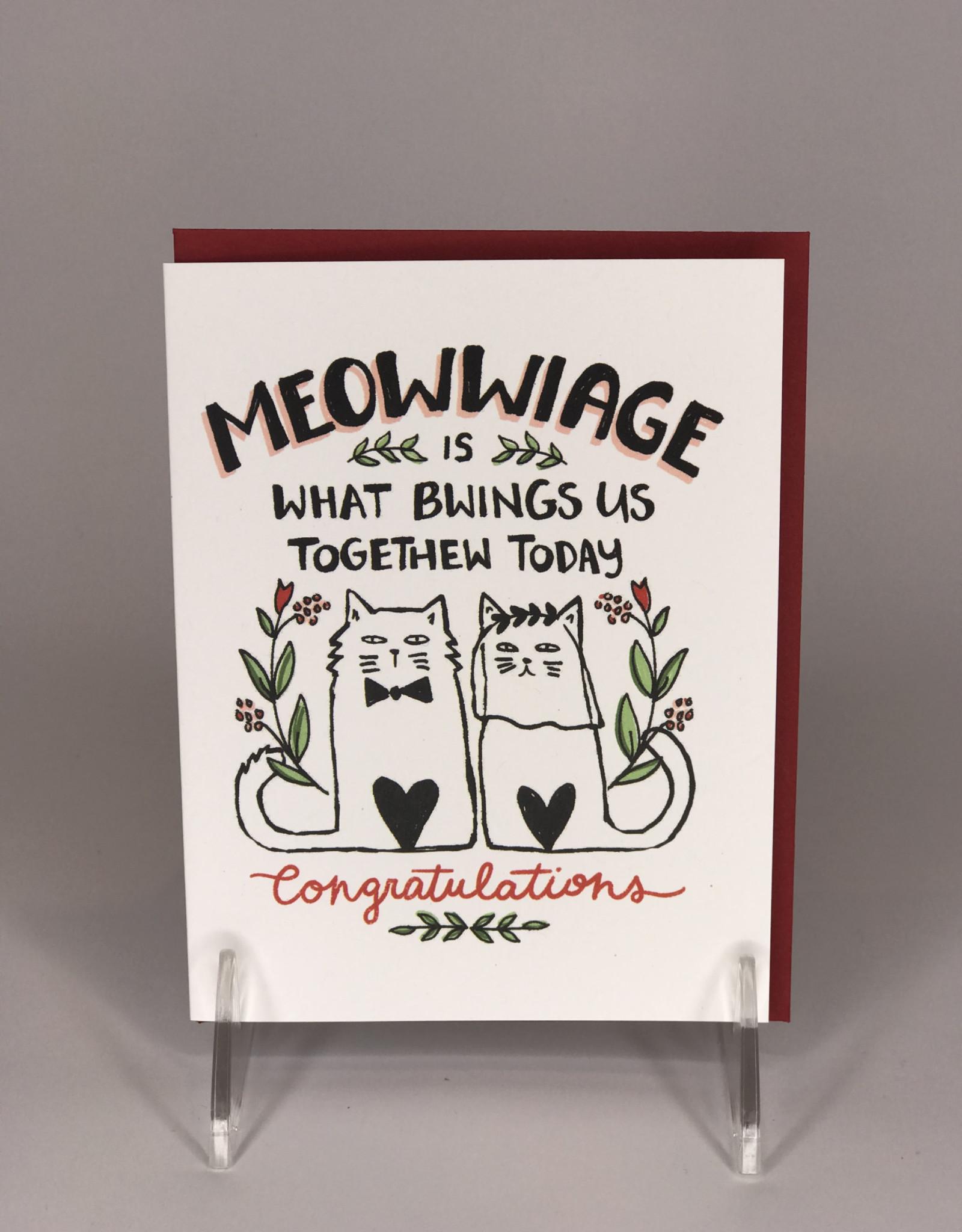 Card- Meowwiage