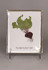Paper Wolf Card- You Make My Heart Beet