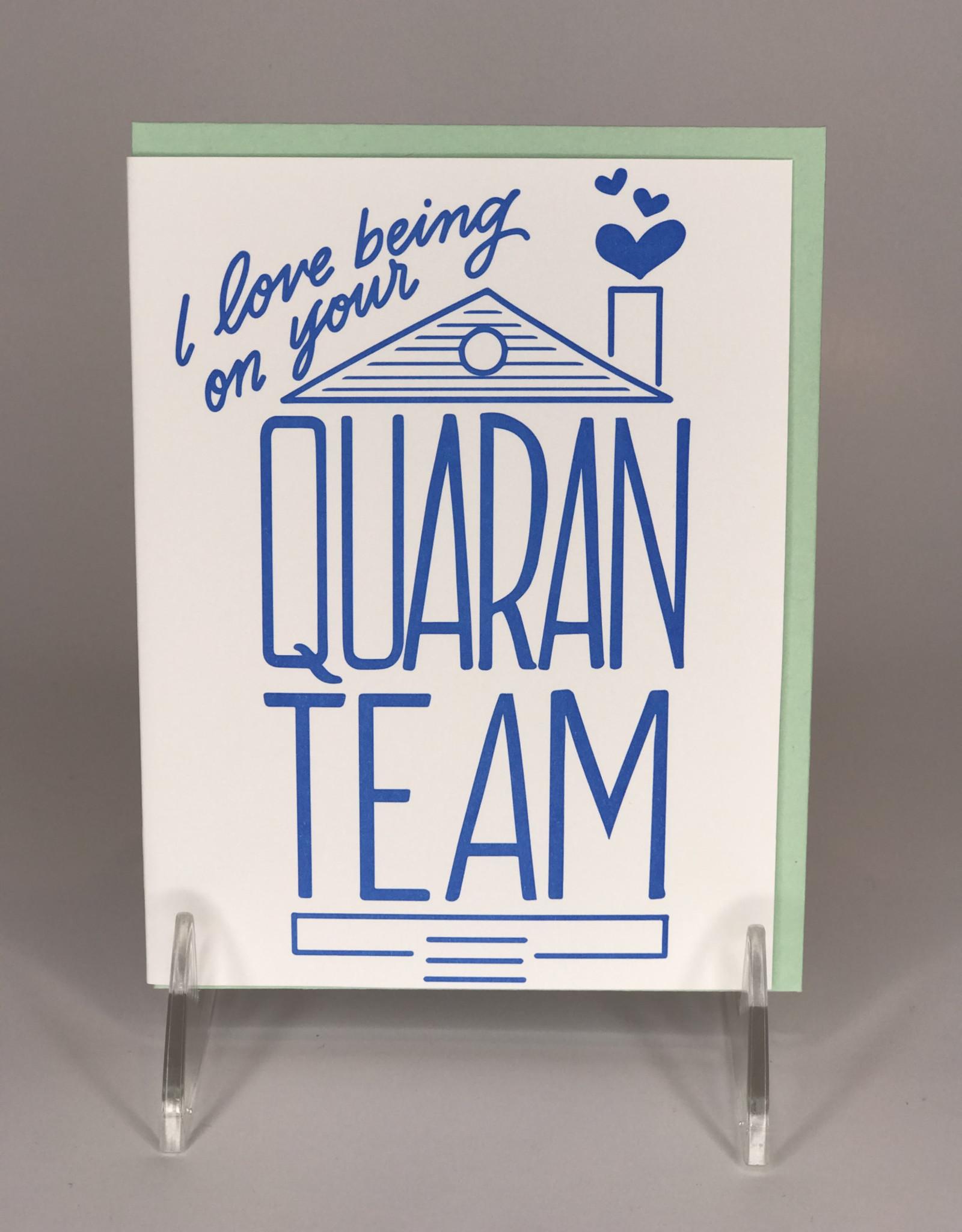 Lionheart Prints Card- QuaranTEAM