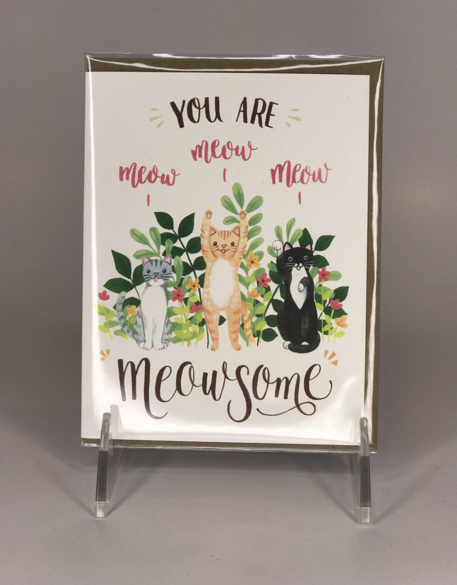 Four Wet Feet Studio Card- Meowsome