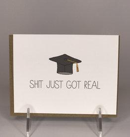 Unblushing Card- Graduation, Got Real