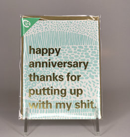 Egg Press Card- Anniversary, Putting Up