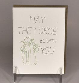 STEEL PETAL PRESS Card- The Force