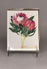 Four Wet Feet Studio Card- Pink Proteas