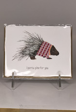 Paper Wolf Card- I Porcu-Pine For You