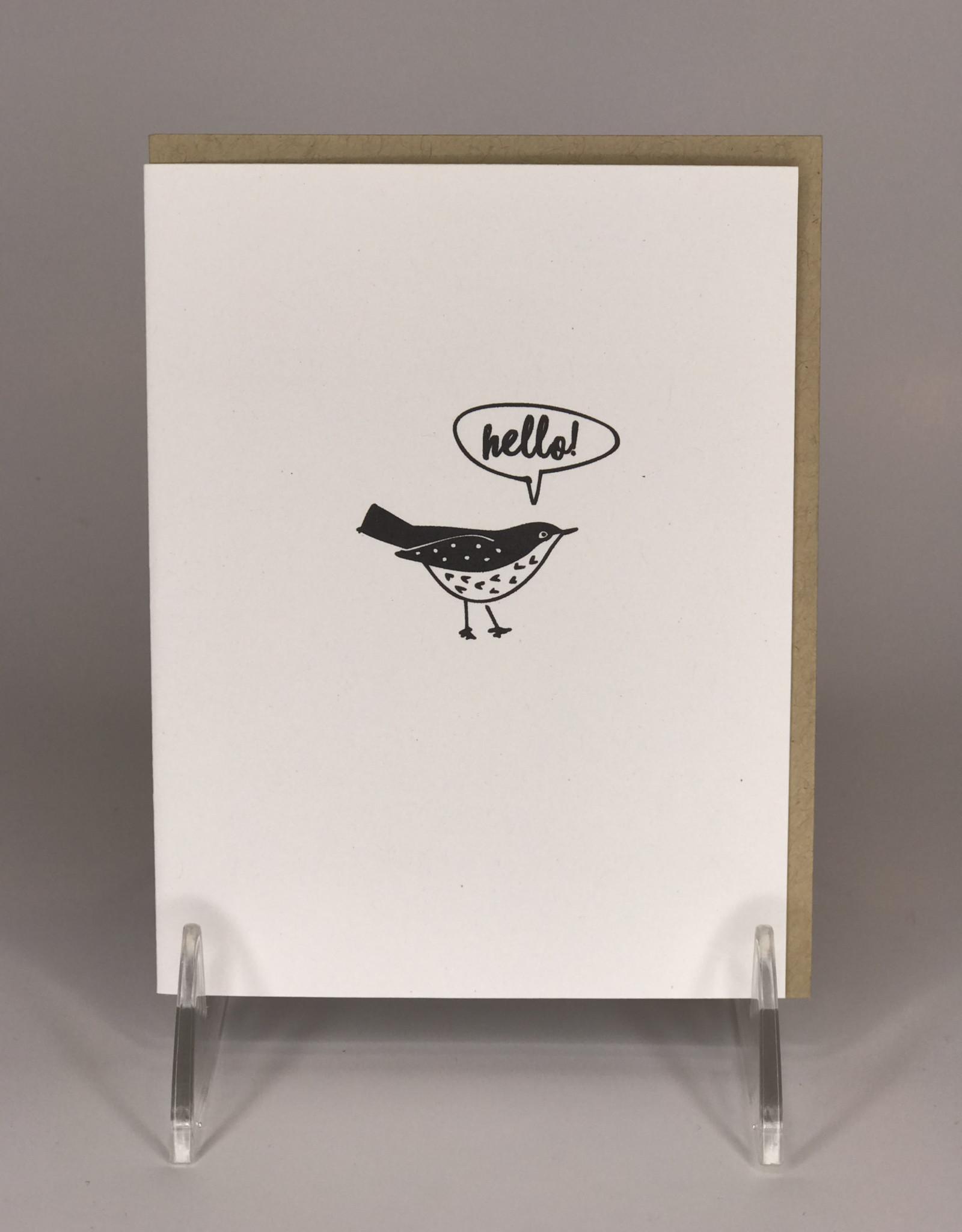 Card- Hello Bird