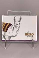 Ladybug Press Card- Llama, Hello There
