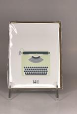 RUFF HOUSE ART Card- Typewriter Hi