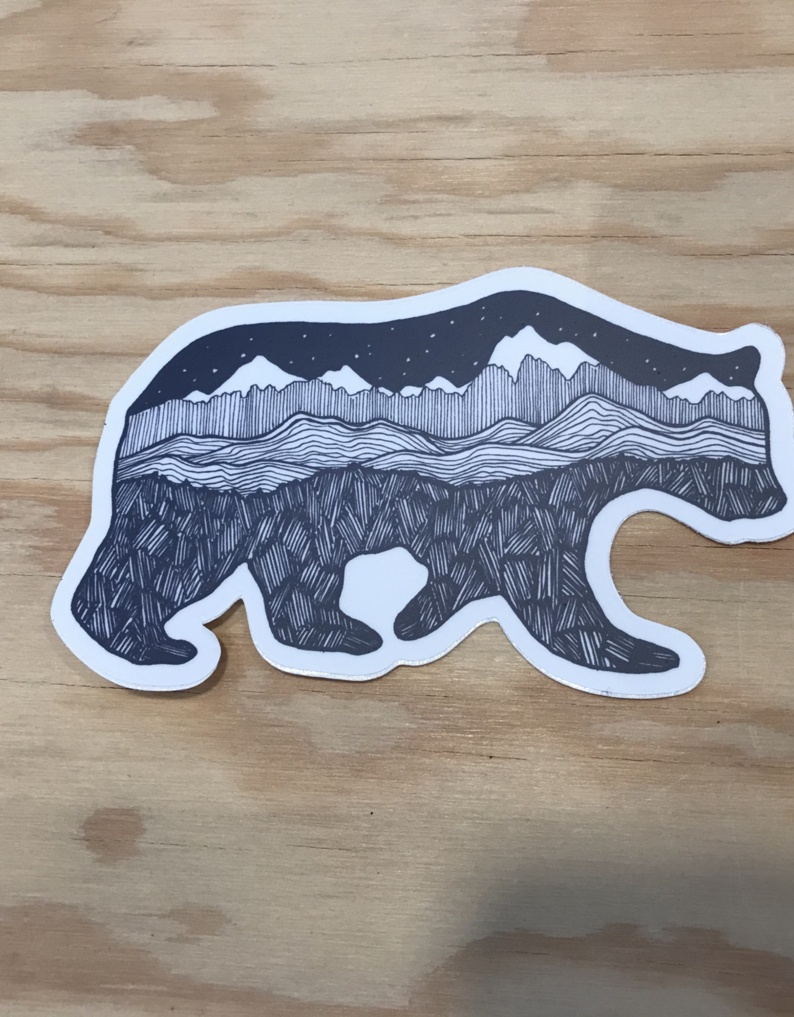 Red Umbrella Designs Sticker- Grizzly Bear