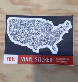 Fell Sticker- Map of America
