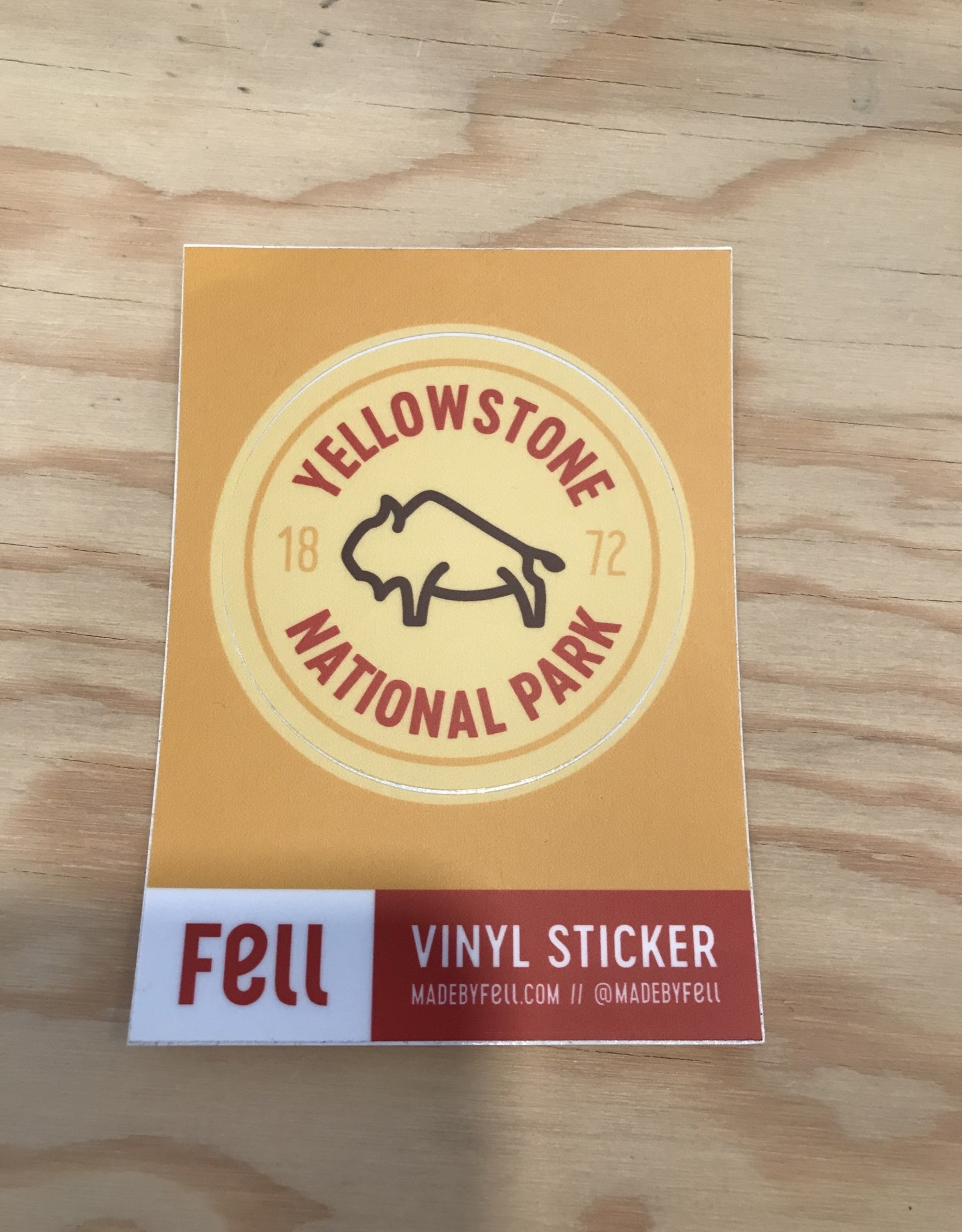 Fell Sticker- Yellowstone