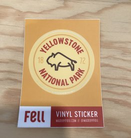 Fell Sticker- Yellowstone