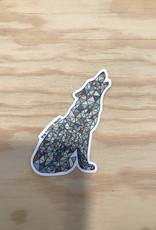 The Happy Sea Sticker- Mosaic, Wolf