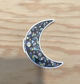 The Happy Sea Sticker- Mosaic, Moon